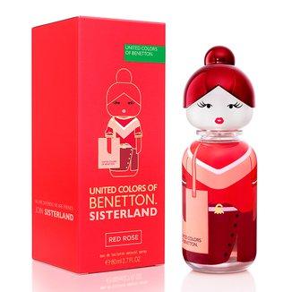 Red Rose Sisterland United Colors of Benetton - Perfume Feminino - EDT - 80ml