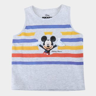 Regata Bebê Disney Hello Mickey Masculina