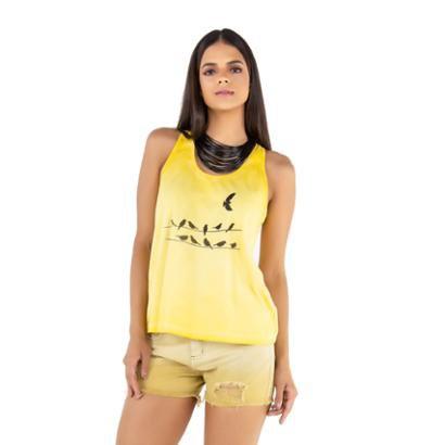 Regata Camiseta Latifundio Birds Feminina