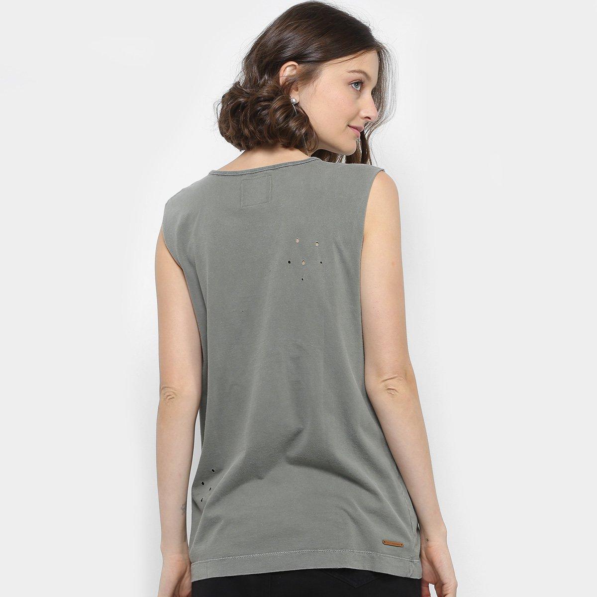 Regata Colcci Silk Caveira Furos Feminina - Compre Agora   Zattini 1ad6ff8d5c