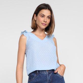 Regata Dom Fashion Decote V Transparente Feminina