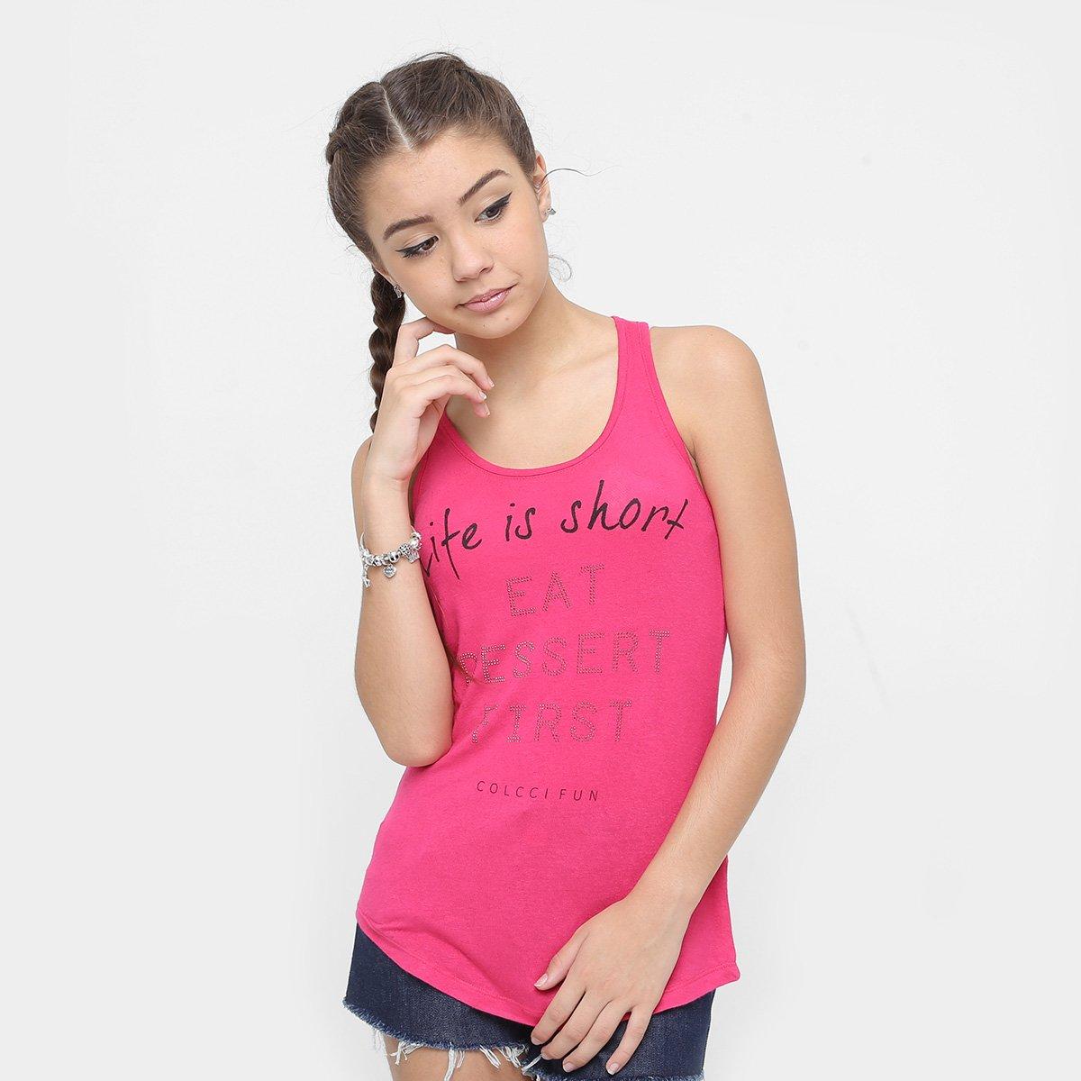 6db73159a Regata Infantil Colcci Fun Estampada Feminina - Pink - Compre Agora |  Zattini