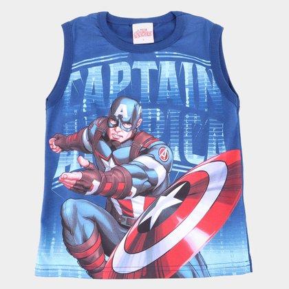 Regata Infantil Marvel Capitão América Masculina