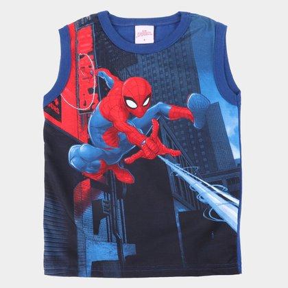 Regata Infantil Marvel Homem-Aranha Masculina