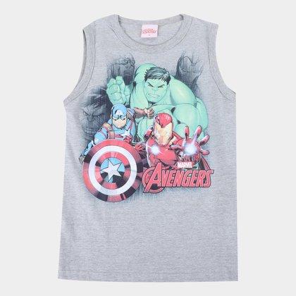 Regata Infantil Marvel Vingadores Masculina