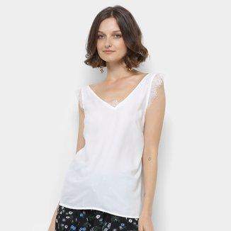 Regata Lily Fashion Renda Feminina