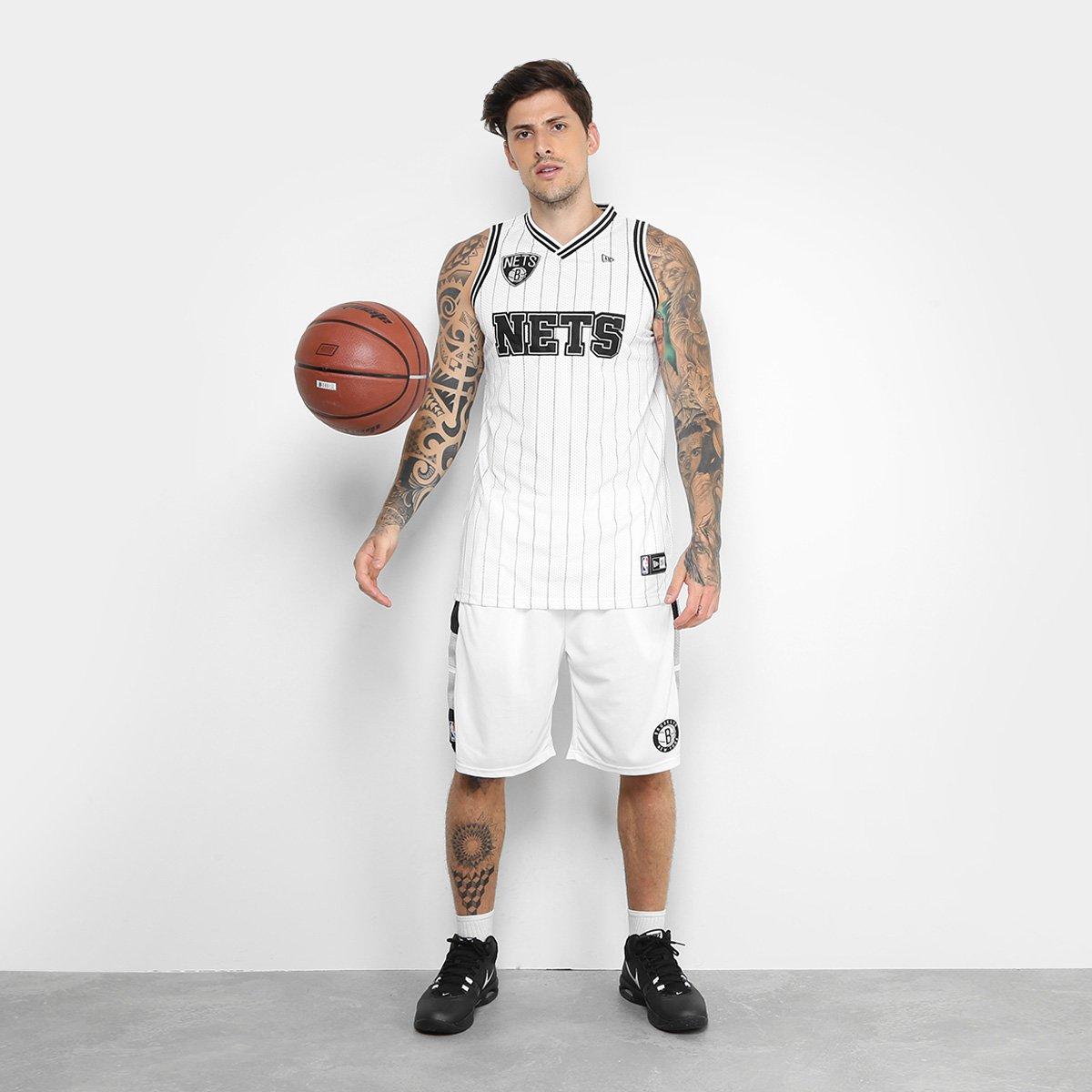 Regata NBA Brooklyn Nets New Era Jersey - Compre Agora  7154995e3c1
