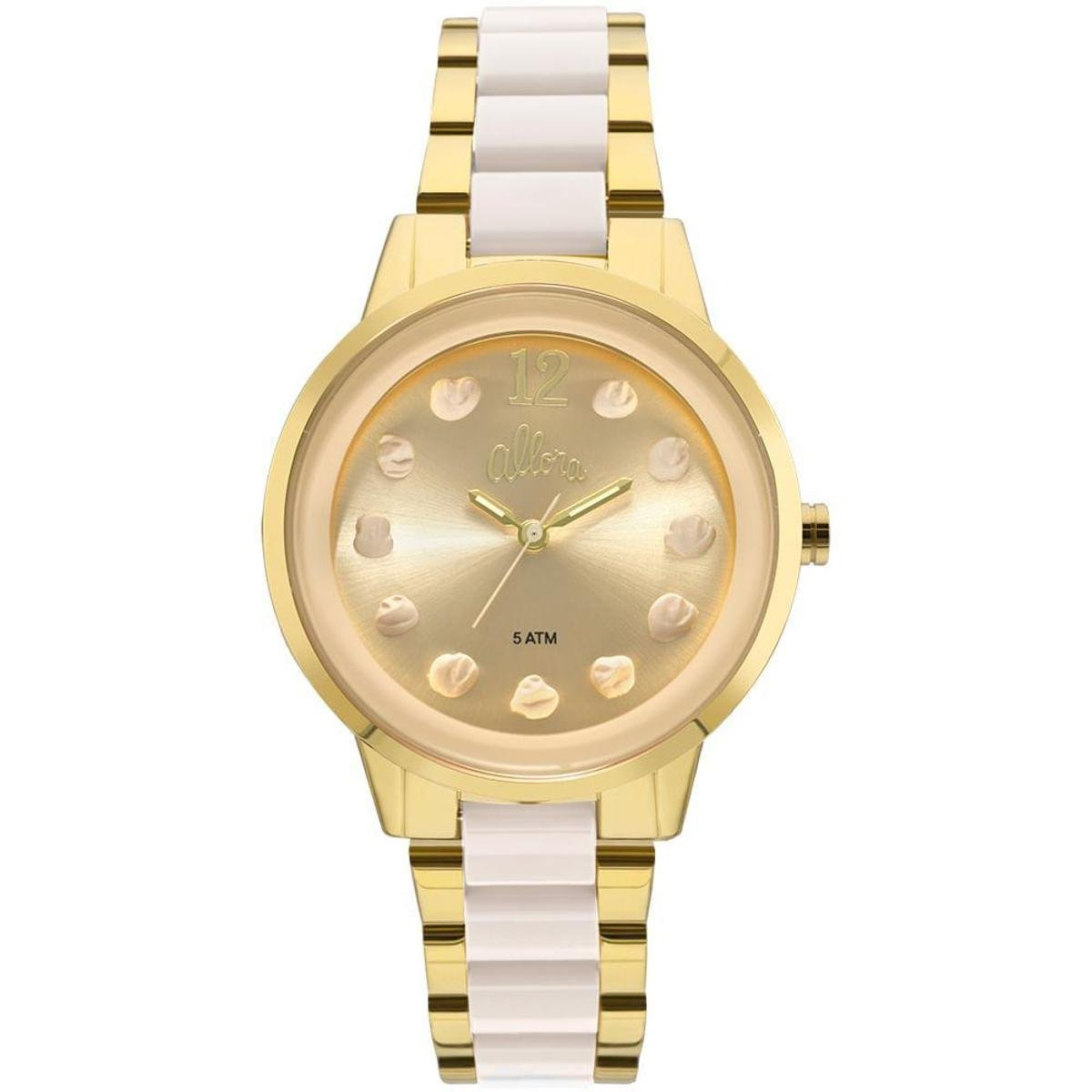 Relógio Allora Feminino Par Perfeito Flor Bicolor - AL2039AS K4B  AL2039AS K4B 21c4f5adb8