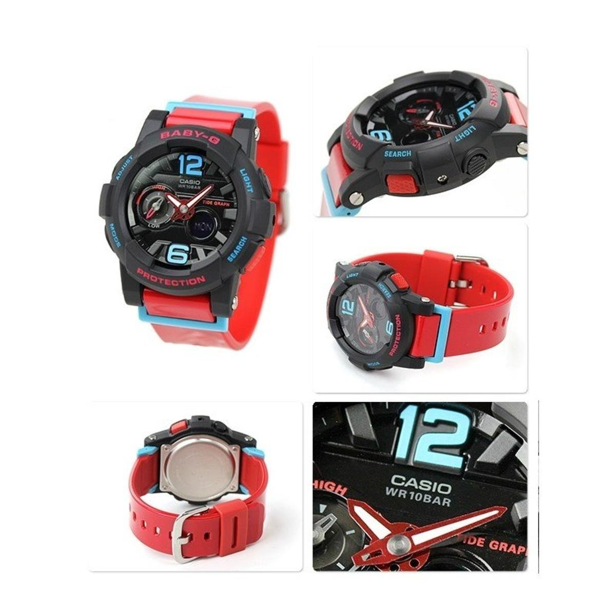 949b68fa242 Relógio Casio Baby G G-Lide - Preto e Vermelho - Compre Agora