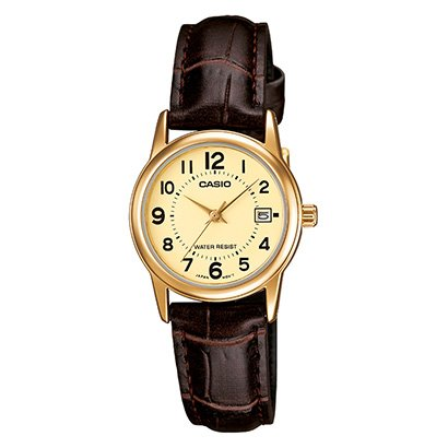 Relógio Casio Collection Analógico Ltp-V002Gl Feminino-Feminino