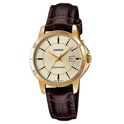 Relógio Casio Collection Analógico Ltp-V004Gl Feminino-Feminino