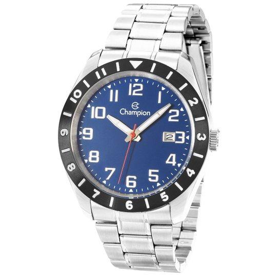 Relógio Champion Analógico Sport CA31435A Masculino - Prata+Azul
