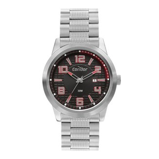 Relógio Condor Casual Speed Prata COPC32BH3P Masculino