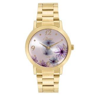 Relógio Condor Feminino Fashion Disco Dourado - CO2035KVW/4G CO2035KVW/4G