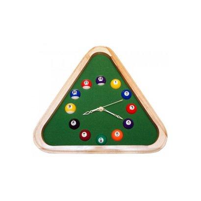 Relógio de Parede Triangular Bilhar