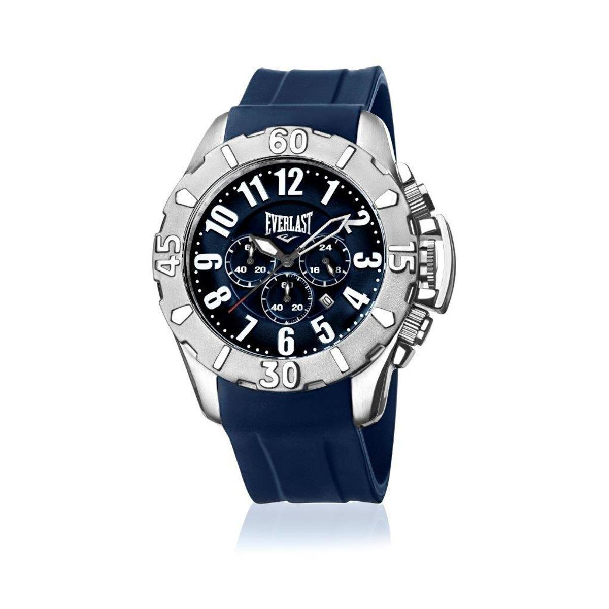 226d3b3ba84 Relógio de Pulso Everlast Cx Aço Pulseira Silicone Analógico ...