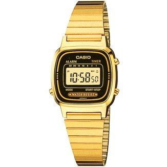 Relógio Digital Casio Vintage LA670WGA-1 Feminino
