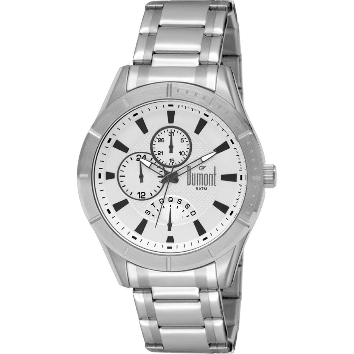 3e60495478f Relógio Dumont Analógico - Prata - Compre Agora