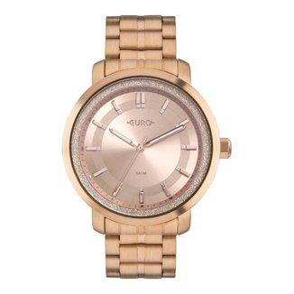Relógio Euro Casual Shine 4J 43mm Aço Feminino