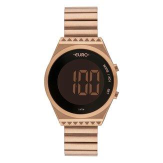 Relógio Euro Digital Fashion Fit Slim EUBJT016AB/4J Feminino