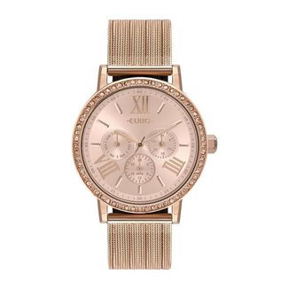 Relógio Euro Multiglow Party 42mm Aço Feminino