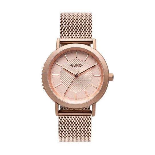 Relógio Euro Strong Woman Spikes Rosé Feminino - Rose Gold