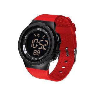 Relógio Everlast Masculino Pulso Digital Pulseira PU Casual