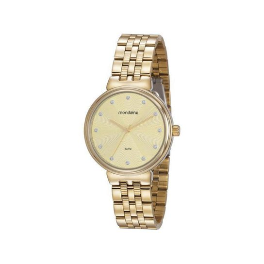 Relógio Feminino Analógico Mondaine - Dourado