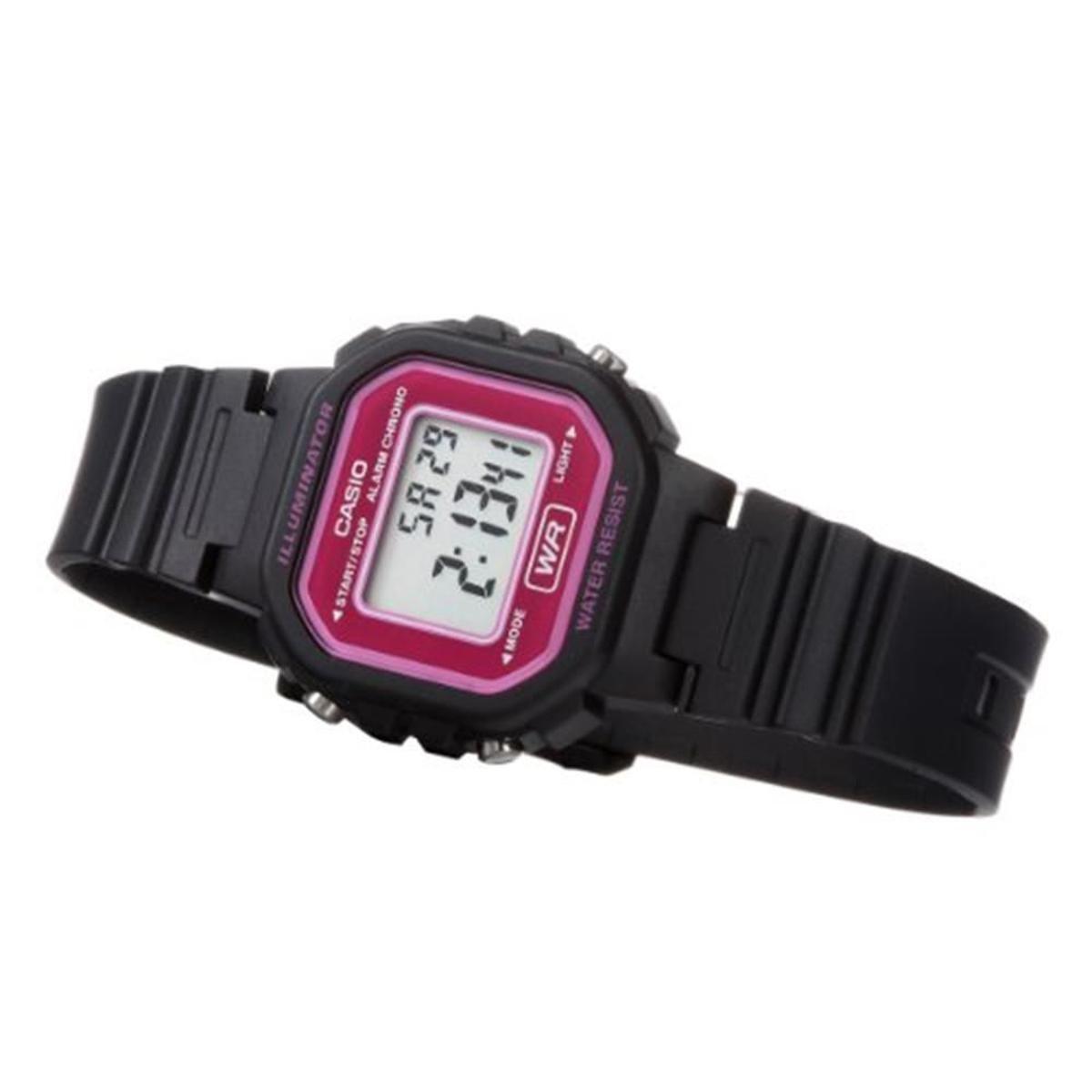 66ff8c62e55 Relógio Feminino Casio Digital - Preto e Pink - Compre Agora
