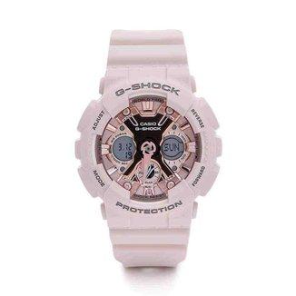 Relógio Feminino Casio G-shock Anadigi Rose Gma-s120mf-4adr