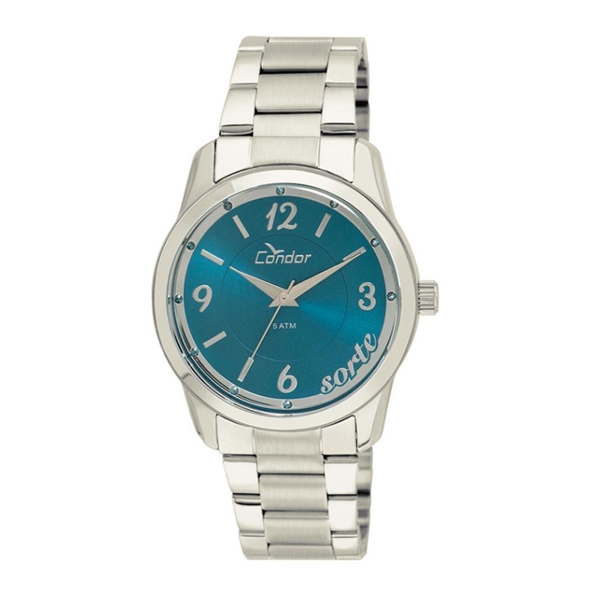 2ee79fb793a Relógio Feminino Condor Analógico Co2035kuq 3A Azu - Prata - Compre ...