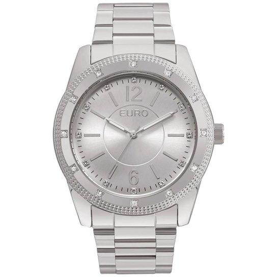 Relógio Feminino Euro EU2035YMP/3K 45mm  Pulseira Aço Prata - Prata