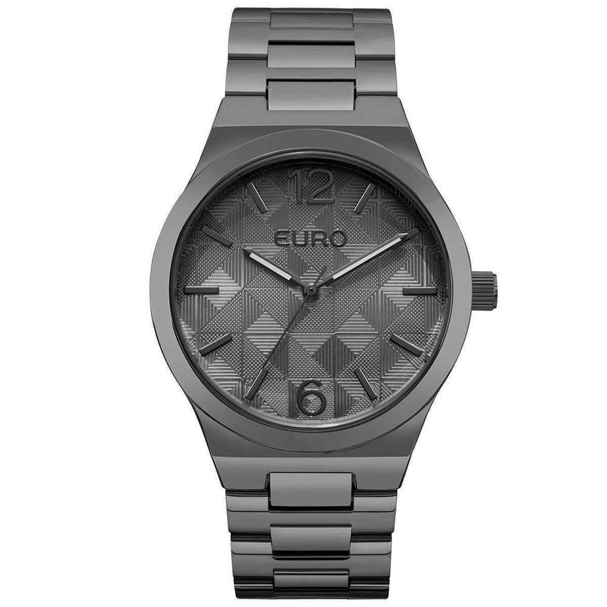 Relógio Feminino Euro EU2036YLM 4P 40mm Pulseira Fume - Cinza ... 03a036c6e2