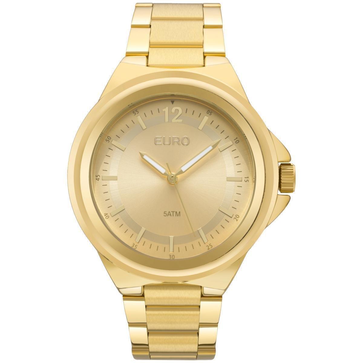 Relógio Feminino Euro EU2039JC 4Y Pulseria Aço Dourada - Dourado ... 63ff8f6fa8