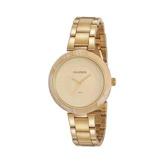 Relógio Feminino Mondaine 32217LPMVDE1 40mm Aço Dourado