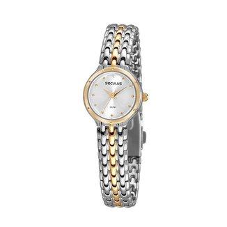 Relógio Feminino Seculus 77096LPSVBB3 24mm Aço Bicolor