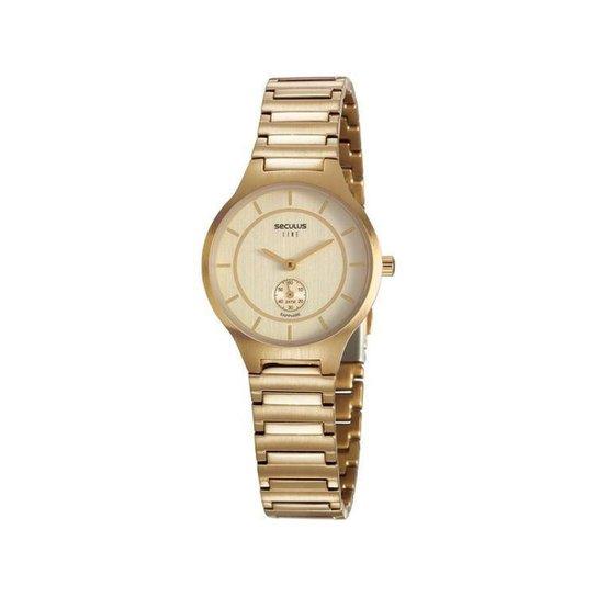 Relógio Feminino Seculus Analógico - Dourado