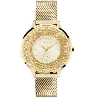 Relógio Feminino Technos 2035MLG/4X Pulseira Aço Dourada