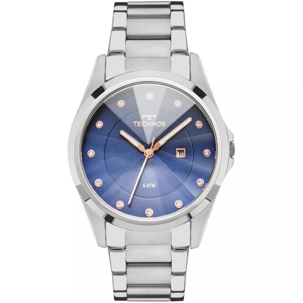 dd3489474df Relógio Feminino Technos GN10AT 1A Aço - Prata - Compre Agora