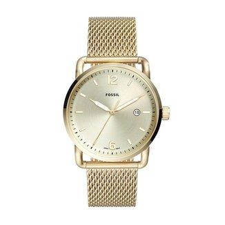 Relógio Fossil Masculino The Commuter 3H Date Dourado - FS5420/1DN FS5420/1DN