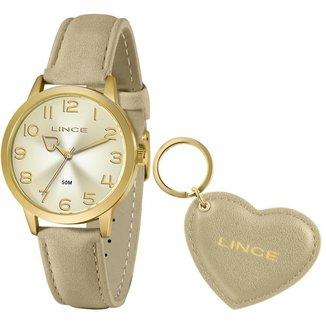 Relógio Lince Feminino Funny Dourado LRC4671L-KN28C2TX