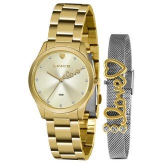 Relógio Lince Feminino Funny Dourado LRG4668L-KZ95C1KX