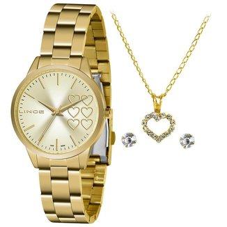 Relógio Lince Feminino Funny Dourado LRG4681L-KZ82C1KX