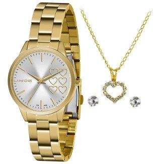 Relógio Lince Feminino Funny Dourado LRG4681L-KZ83S1KX