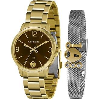 Relógio Lince Feminino Funny Dourado LRG4682L-KN20M2KX