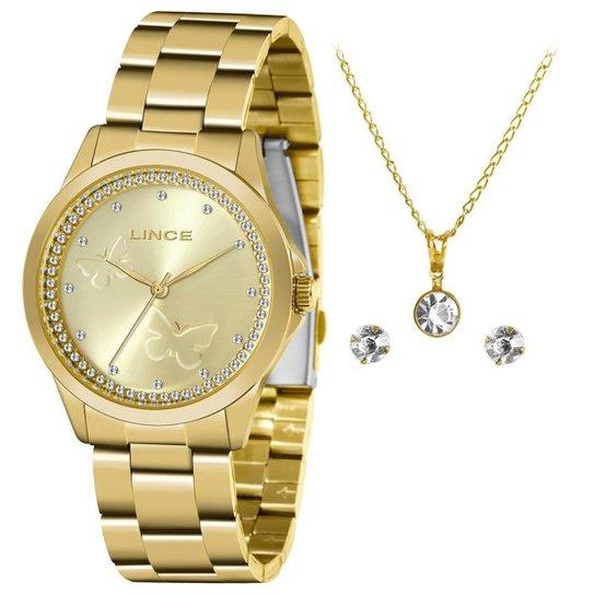 Relógio Lince Feminino Funny Dourado LRGJ121L-KY83C1KX - Dourado