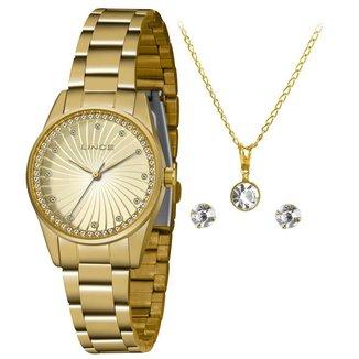 Relógio Lince Feminino Funny Dourado LRGJ132L-KZ16C1KX