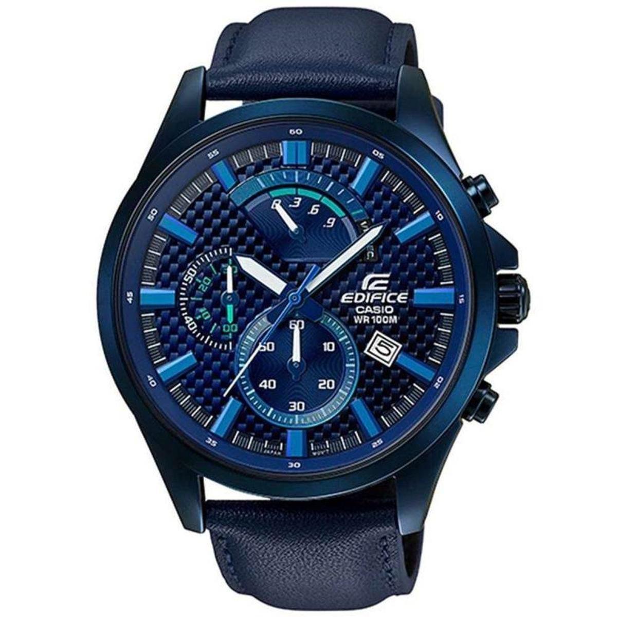 1062e7e7e5f Relógio Masculino Casio Edifice Efv 530Bl 2Avudf - Azul - Compre ...