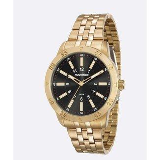 Relógio Masculino Mondaine 99193GPMVDE1 45mm Aço Dourado