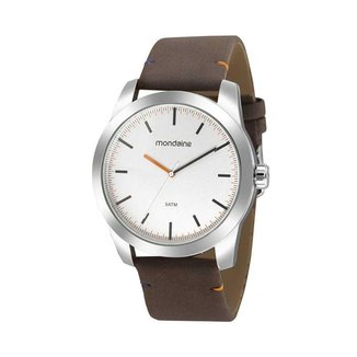Relógio Masculino Mondaine 99593G0MVNH2 46mm Couro Marrom